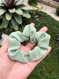 Scrunchie Tecido Verde Acqua