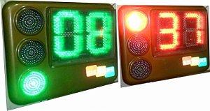 Semáforo veicular principal 3x200mm, com temporizador bicolocor, mostragem regressiva do tempo do vermelho e verde, ...