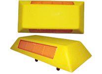Mini tachão em resina poliéster tamanho 100x250x40mm, inclui 150 gramas de cola para fixação