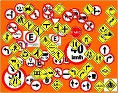 Placa Sinalização de Trânsito (regulamenação ou advertência) de 50cm TODOS MODELOS DO CÓDIGO DE TRÂNSITO TAMANHO PADRÃO URBANO