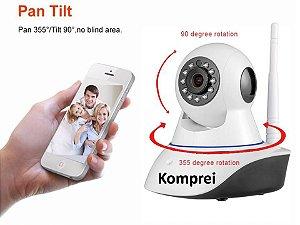 Câmera Ip Wi-fi 2mp Hd 1080p Inteligente De Visão Noturna