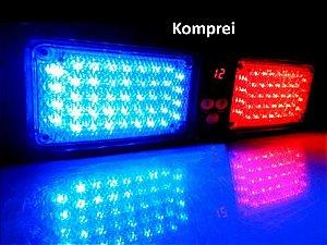 Giroflex Automotivo - Azul X Vermelho 86 Leds - Exclusivo