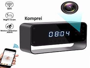 Relógio De Mesa Espião Wifi - Exclusivo