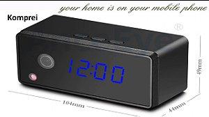 Relógio Espião 720P Wi-fi Tempo Real Via Celular - Exclusivo