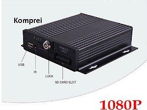 Dvr Veicular Gravador 1080p 4 Canais + 4 Câmeras Hd - Ônibus Etc.