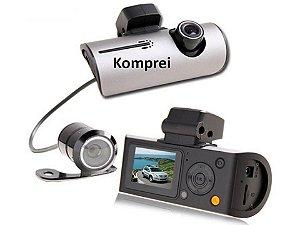 Câmera Filmadora Veicular Com Câmera De Ré - Exclusivo Komprei