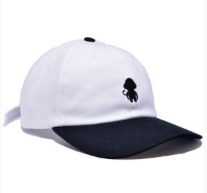 Boné Dad Hat Improve Monkey Logo Branco/Preto