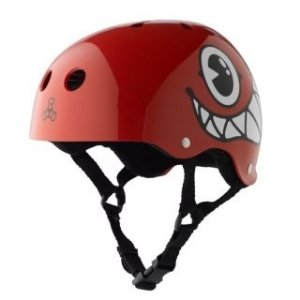 Capacete Skate Triple Eight Mallof Apple Red Glossy