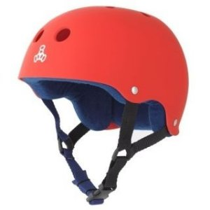 Capacete Skate Triple Eight Brainsaver Sweatsaver Red Rubber