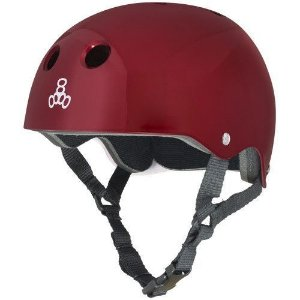 Capacete Skate Triple Eight Brainsaver Standard Red Metallic