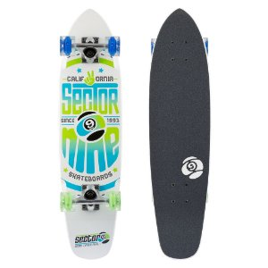 Skate CRUISER SECTOR 9 WEDGE GLO BRANCO LED WHEELS