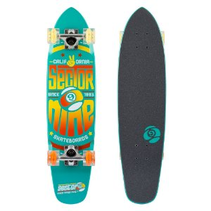 Skate CRUISER SECTOR 9 WEDGE GLO VERDE LED WHEELS