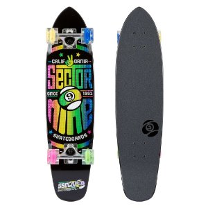 Skate CRUISER SECTOR 9 WEDGE GLO PRETO LED WHEELS