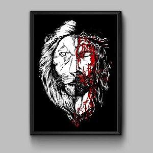 Quadro Jesus Leão Black