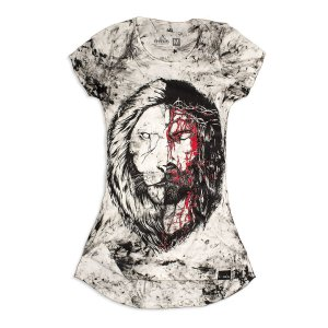 LONGLINE JESUS LEÃO CUSTOM FEMININA