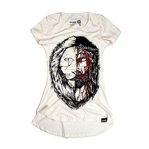 LONGLINE FEM JESUS LEÃO OFF WHITE