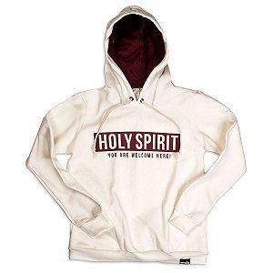 MOLETOM HOLY SPIRIT OFF WHITE - PRÉ VENDA
