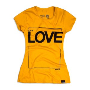 CAMISETA FEMININA GOD IS LOVE