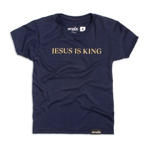 CAMISETA JESUS IS KING - INFANTIL