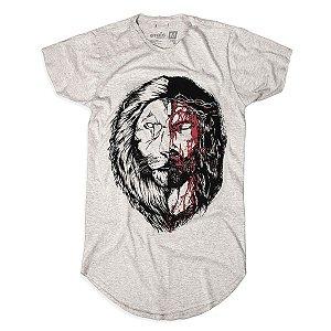 CAMISETA LONGLINE JESUS X LEÃO