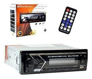 Auto Radio MP3 Sound Vox SX832 Usb Bluetooth SdCard