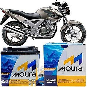 Bateria Para Moto 12V/6Ah Moura MA6-D
