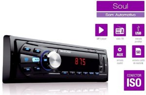 MP3 Player Multilaser Soul P3294 1 Din FM USB SD AUX Som Automotivo