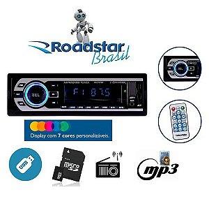 Auto Radio Roadstar USB/SD/AUX/FM/AM RS-2707BR Preto
