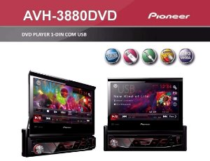 Pioneer AVH-3880 1 Din Tela Retrátil 7 Polegadas Touch Screen USB Auxiliar Rádio AM FM