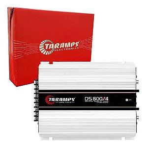 Módulo Amplificador Taramps DS 800X4 800W RMS 4 Canais 2 Ohms RCA Classe D