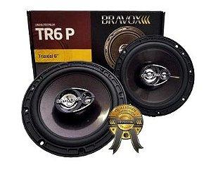 Par Alto Falantes Bravox Linha Premium TR6 P 6 Polegadas 140W RMS 4 Ohms Bobina Simples Triaxial