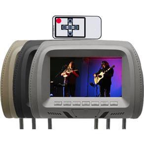 Encosto com Tela LCD de 7 Polegadas Grafite/ Preto/ Cinza Com Controle Modelo Escravo