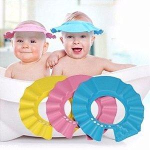 Viseira de banho para lavar a cabeça do bebê