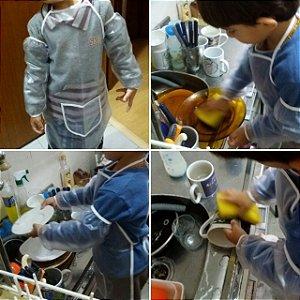 Avental com mangas avulsas para crianças