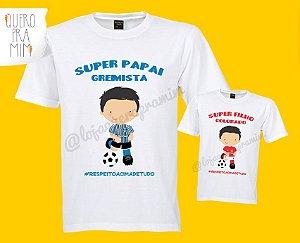 Kit Tal Pai ou Mãe, Tal Filha/Filho com body ou camisa infantil e camisa adulto