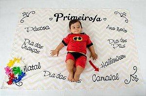 Tapete de acompanhamento para fotos de bebê e criança