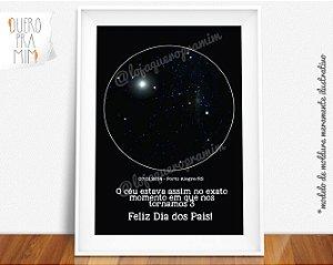 Quadro Escrito nas Estrelas - alinhamento real do céu