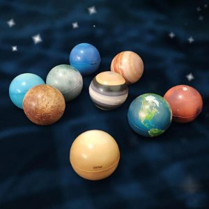 Miniaturas Sistema Solar Planetas ou Astronautas