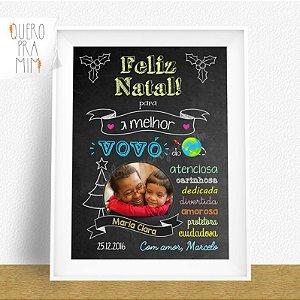 Chalkboard Feliz Natal - presente personalizado