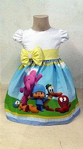 Vestido Pocoyo Infantil Sua Festa Mais Completa E Bonita Tam. 01 ao 06
