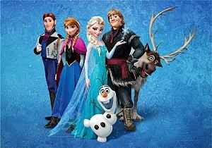 Tecido Frozen Fever Ana E Elza Estampa Sublimada P/ Vestido.