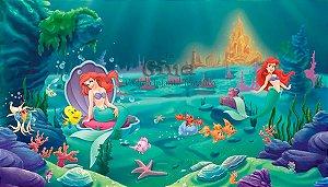 Tecido Ariel Princesa Disney Sereia Estampa Sublimada P/ Vestido.