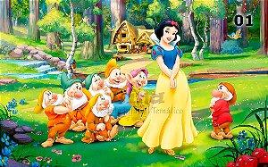 Tecido Branca de Neve Disney Estampa Sublimada.