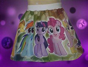 Saia My Little Pony Infantil Feminina Tamanho 01 ao 06.