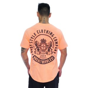 CAMISETA LION OF ENGLAND - LARANJA