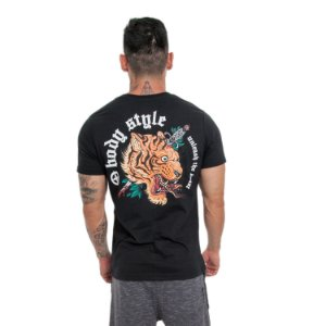 CAMISETA TIGER/LION RETA - PRETO