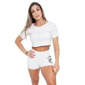 CROPPED BODY SWEET LOVE - BRANCO