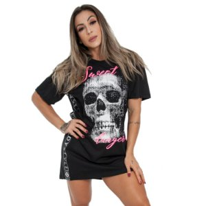 T-DRESS BODY SWEET SKULL - PRETO