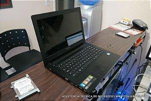 Assistência Técnica Notebook Lenovo IdeaPad G400S modelo 80AC, aumento da memória, formatação, limpeza e troca das pastas térmicas