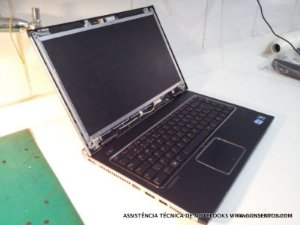 Assistência Técnica Notebook Dell Vostro 3450, troca de tela quebrada e formatação do notebook